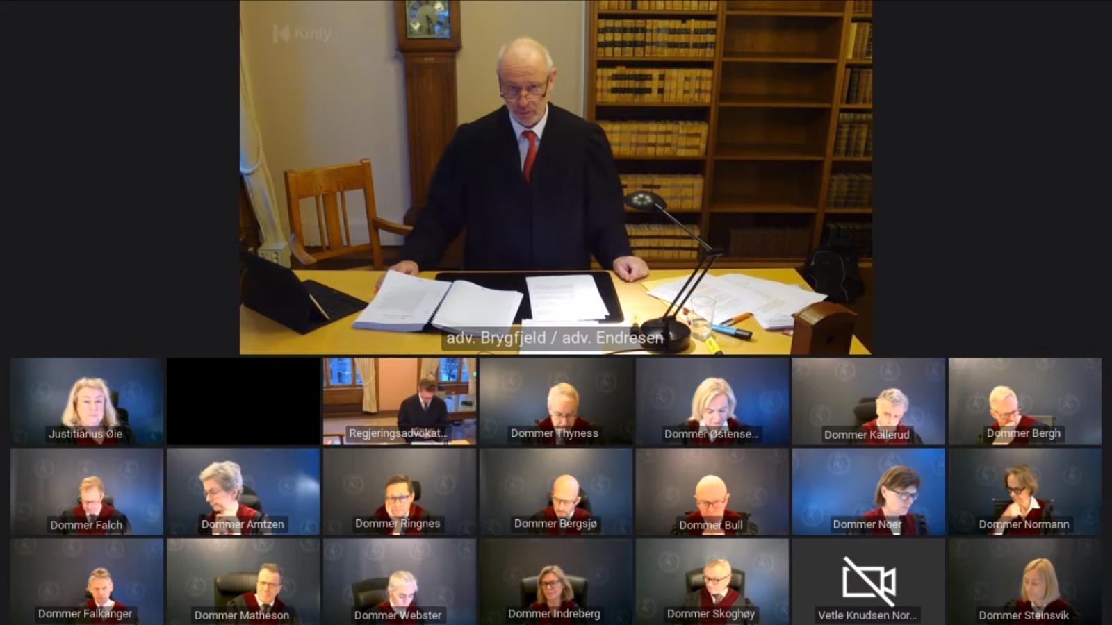 Nei til EUs advokat Bent Endresen prosederer i ACER-saken for Høyesterett 14. januar 2021.
