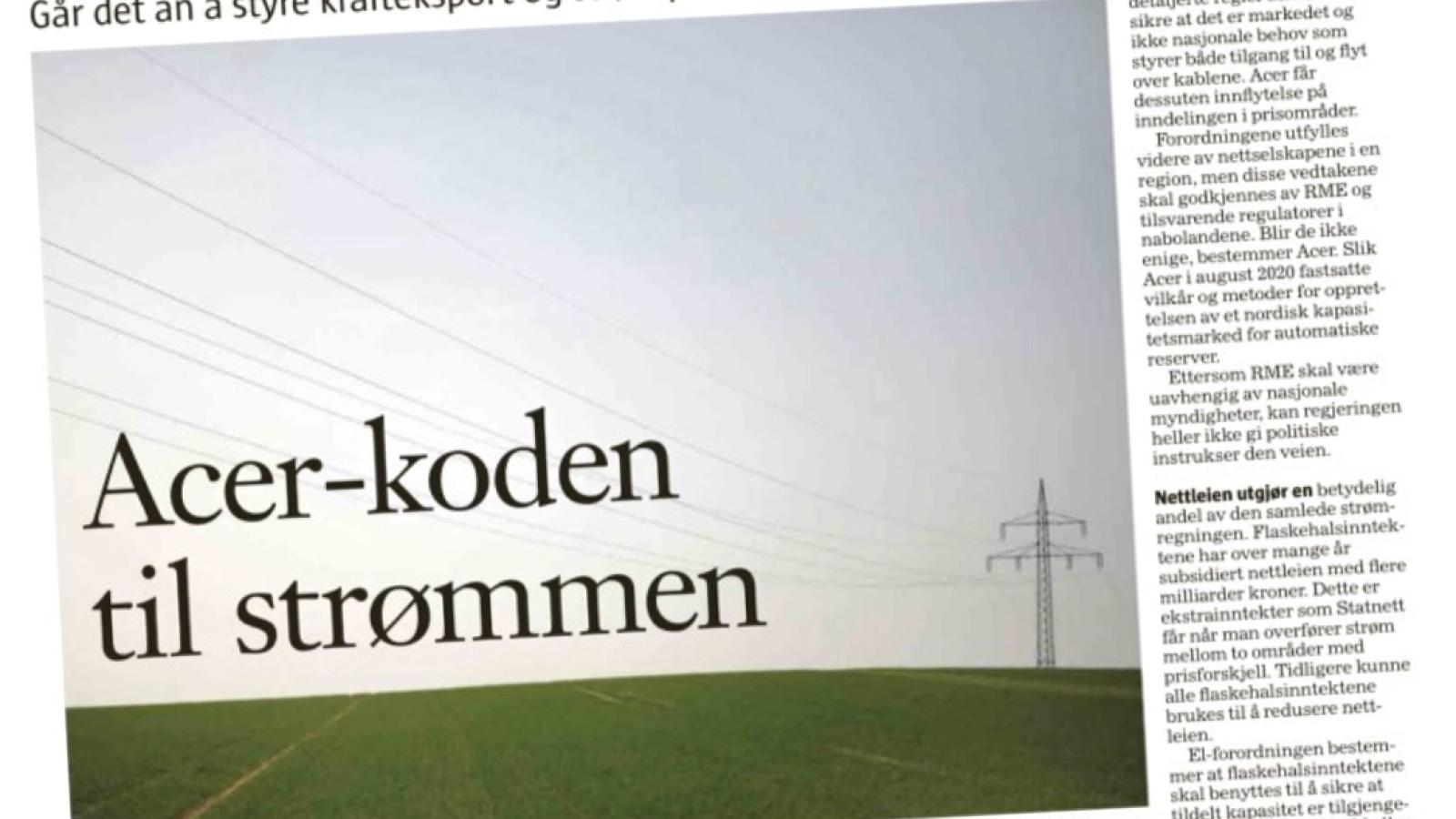 "Faksimile fra Klassekampens spalte ""Orientering"" lørdag 25. september 2021."