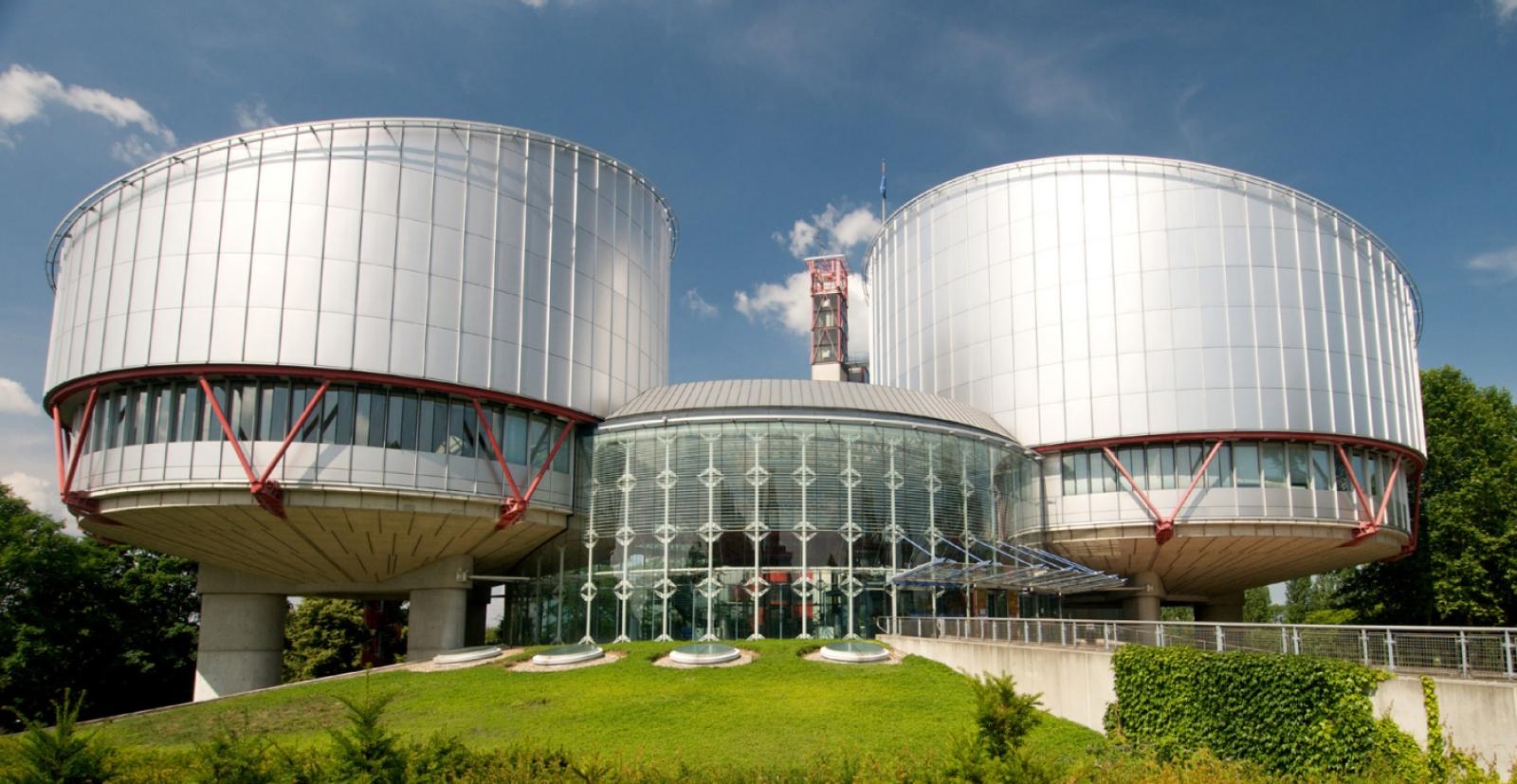 Den europeiske menneskerettighetsdomstolen i Strasbourg, foto fra domstolens årsrapport 2015.
