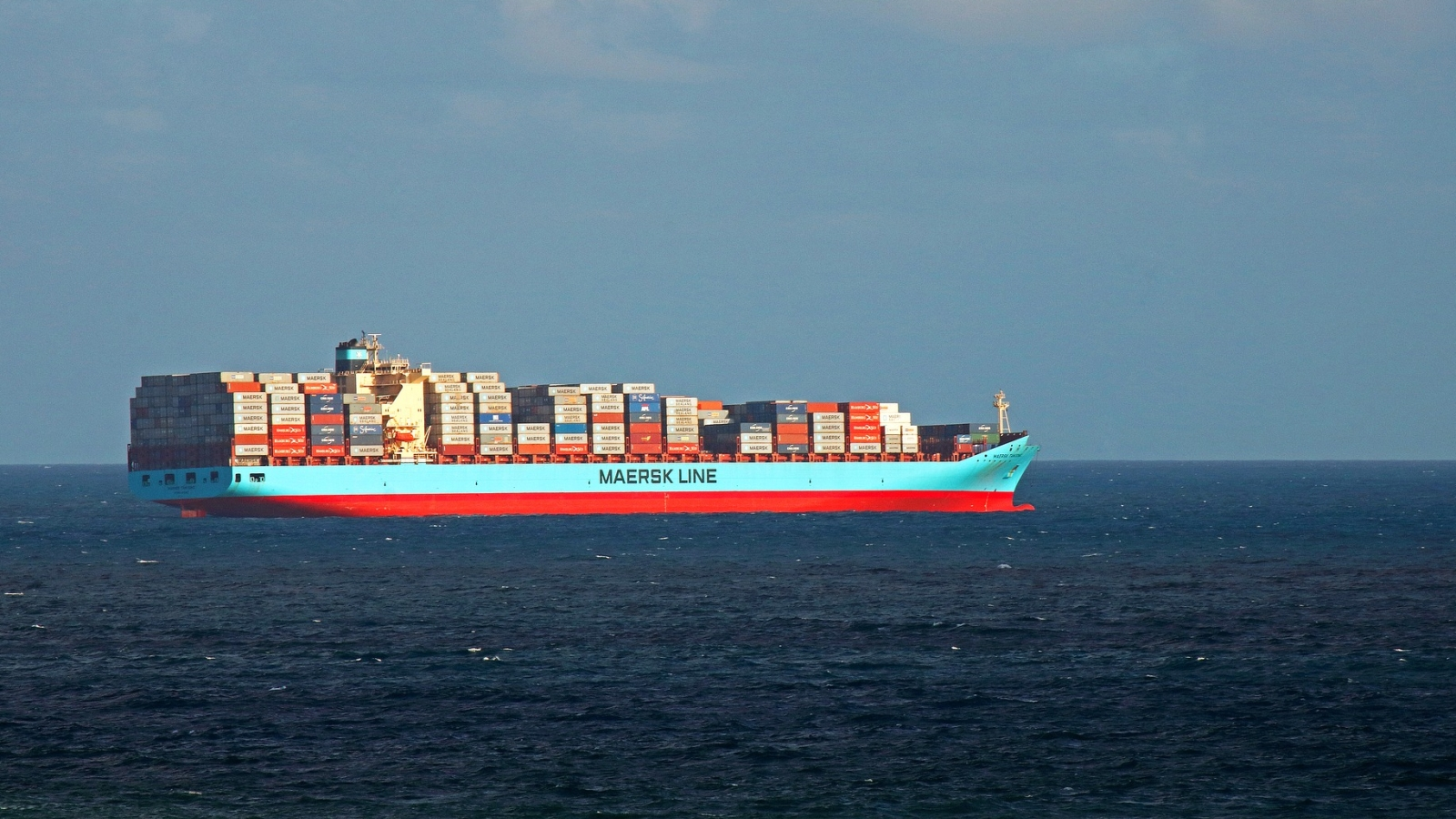 Containerskip fra Maersk.
