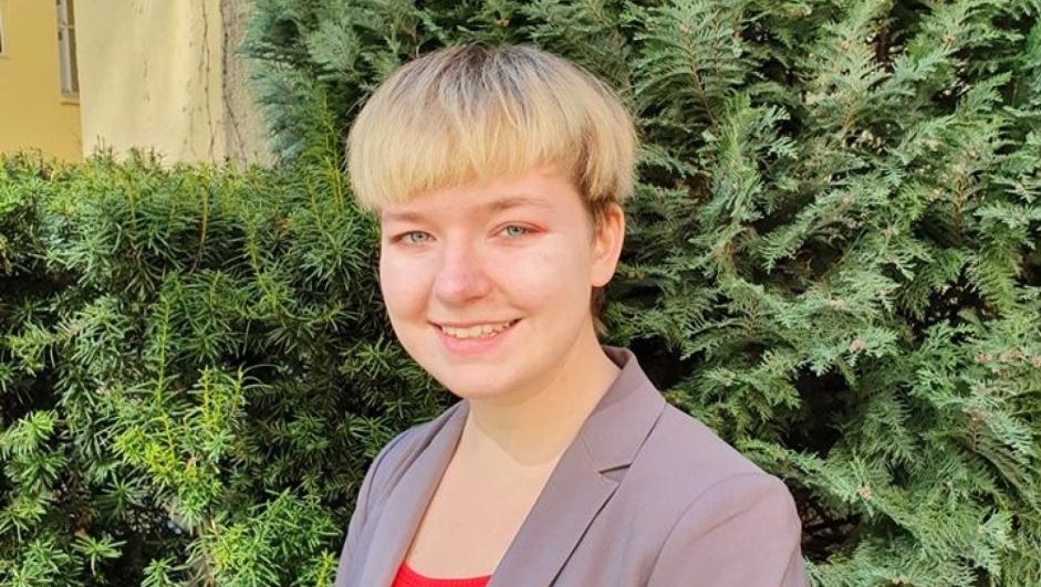 Frankie Rød, leder i Ungdom mot EU.