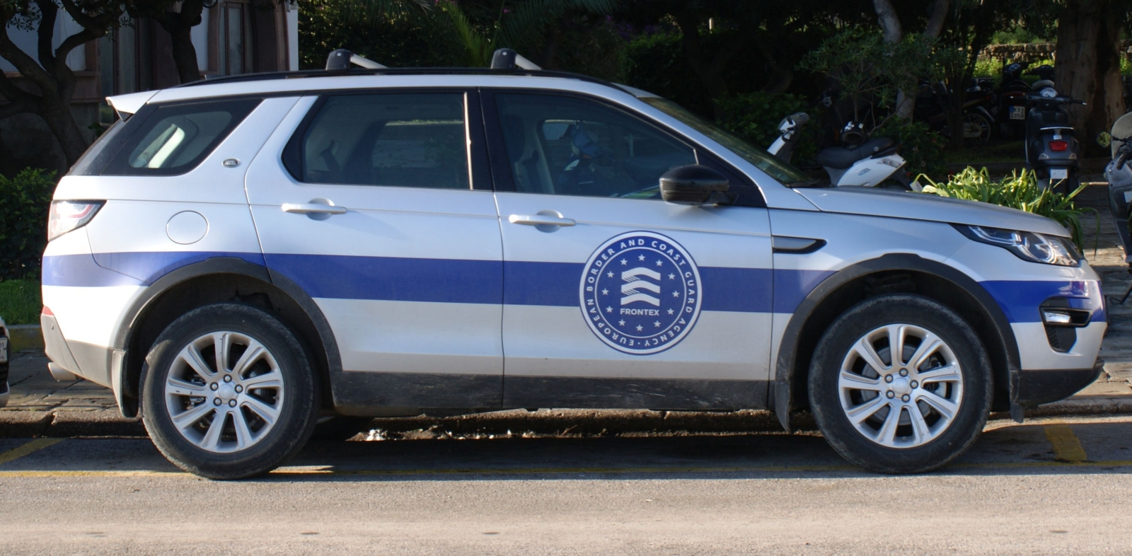 Patruljebil fra grensevaktstyrken på øya Kos, Hellas.