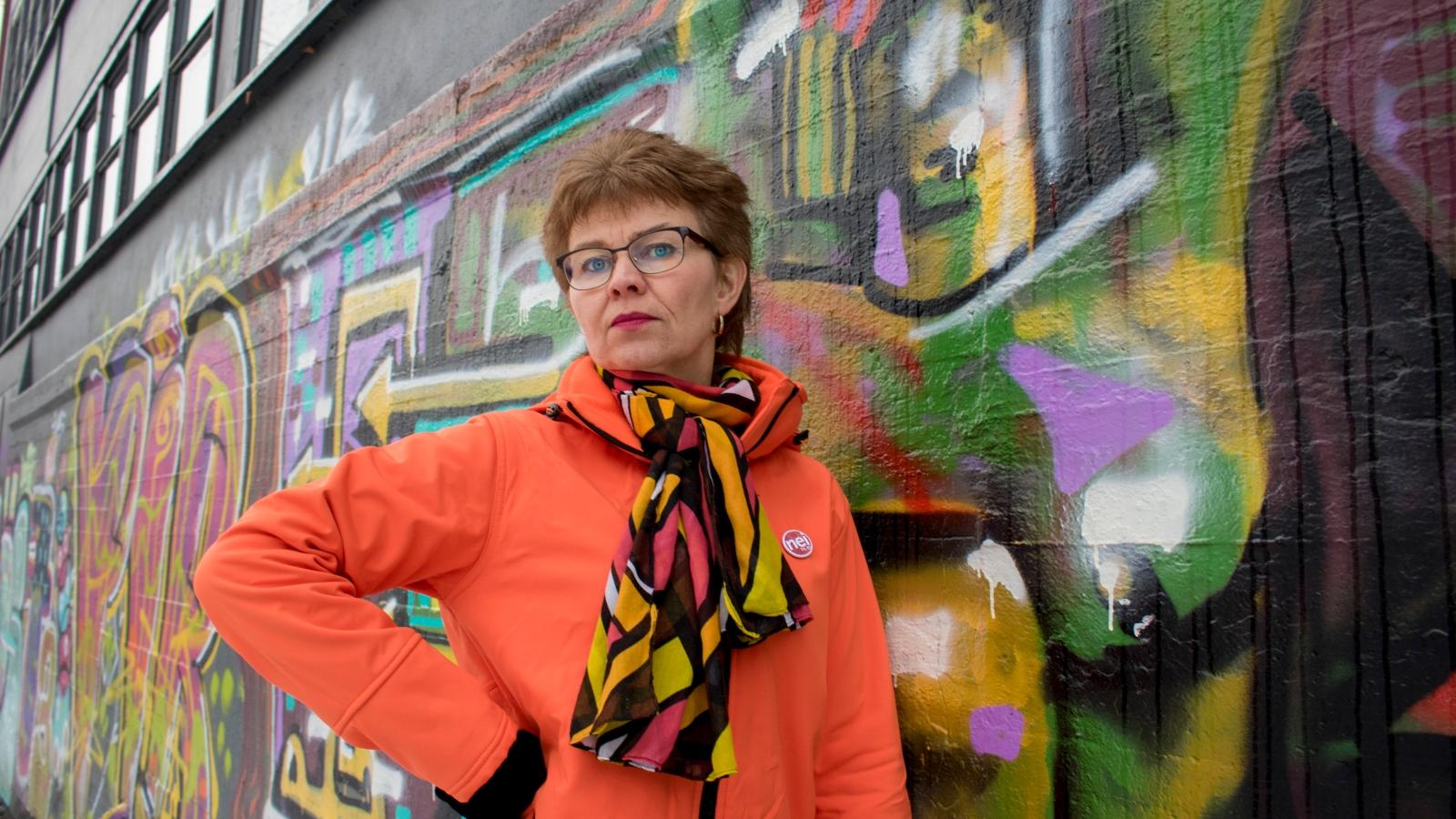 Kathrine Kleveland, leder i Nei til EU, november 2017.