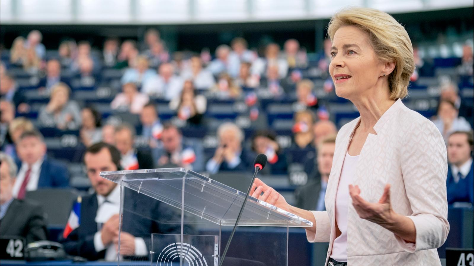 EU-kommisjonens president Ursula von der Leyen har lansert en 'Green Deal' for klimaet.