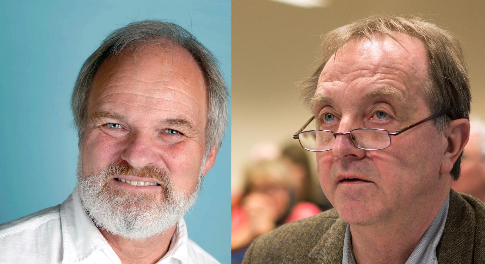 Einar Frogner (t.v.) og Roy Pedersen er lederkandidater i valgkomiteens delte innstilling.