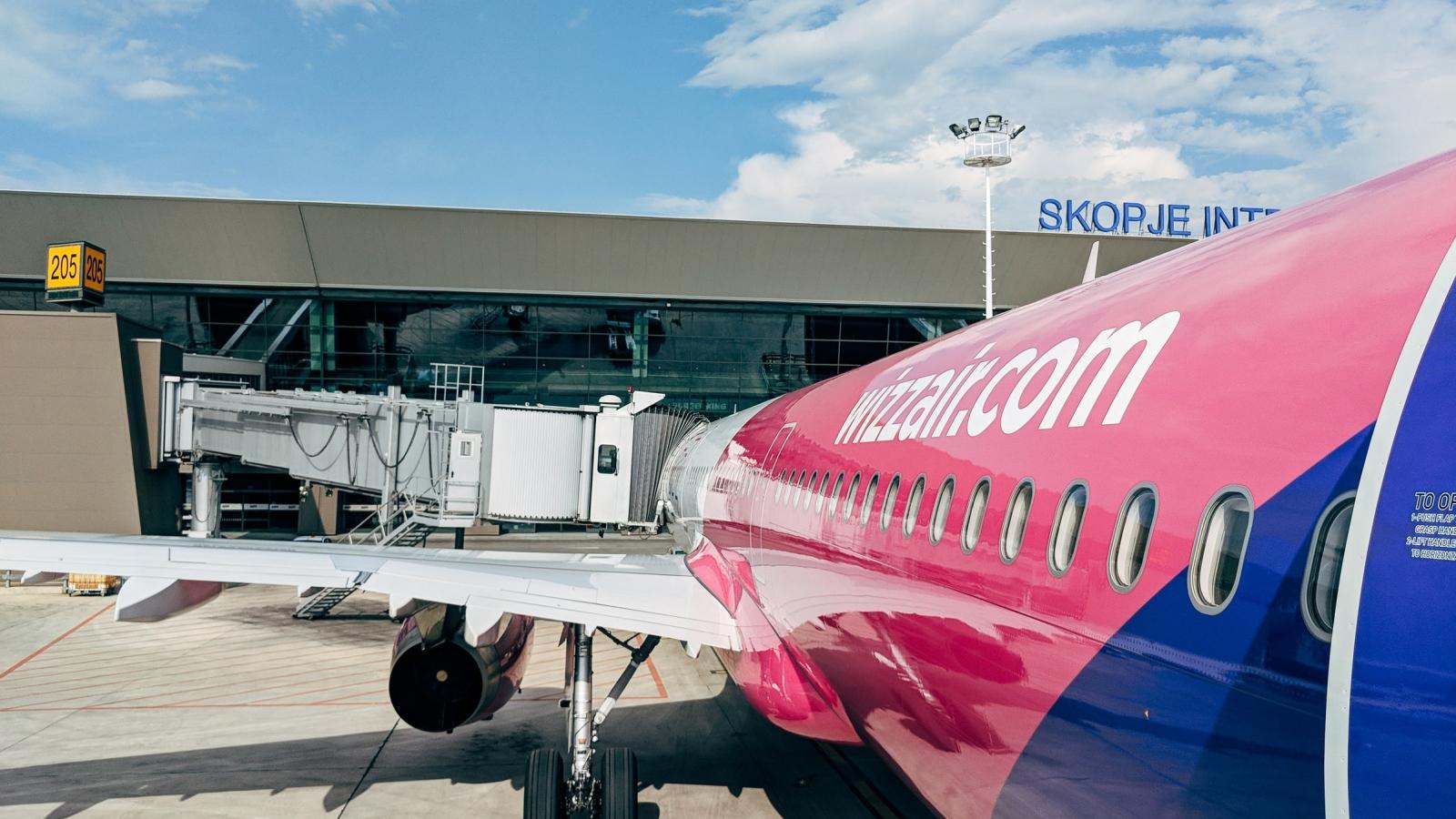Illustrasjonsfoto: Maskin fra Wizz Air i Skopje, Nord-Makedonia.