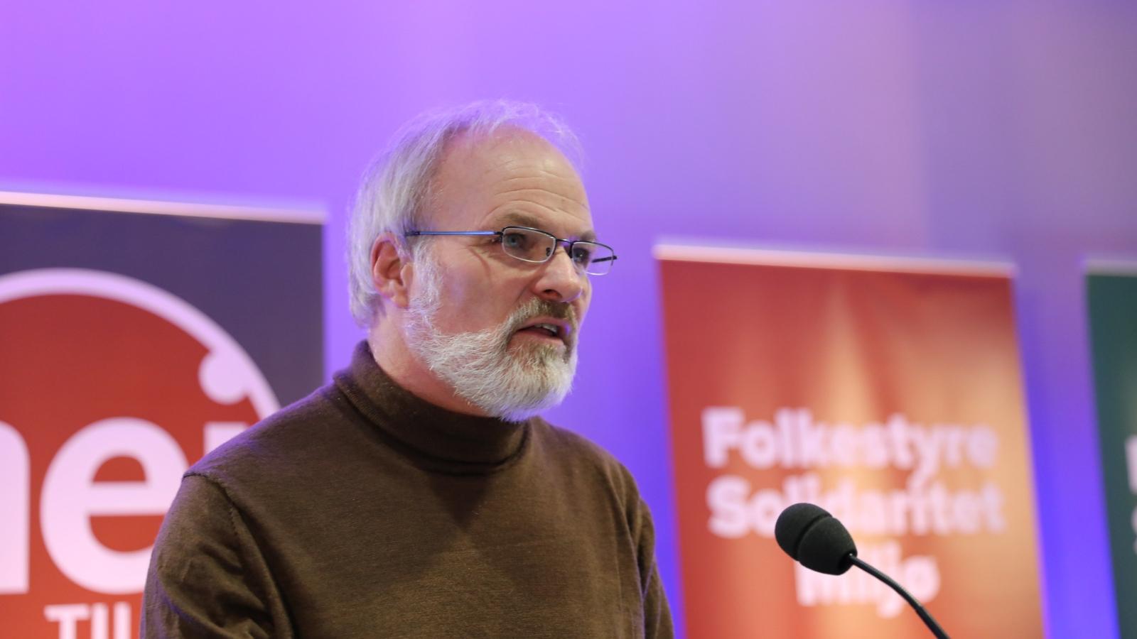 Einar Frogner på Nei til EUs landsmøte i 2020. (Foto: Nei til EU.)