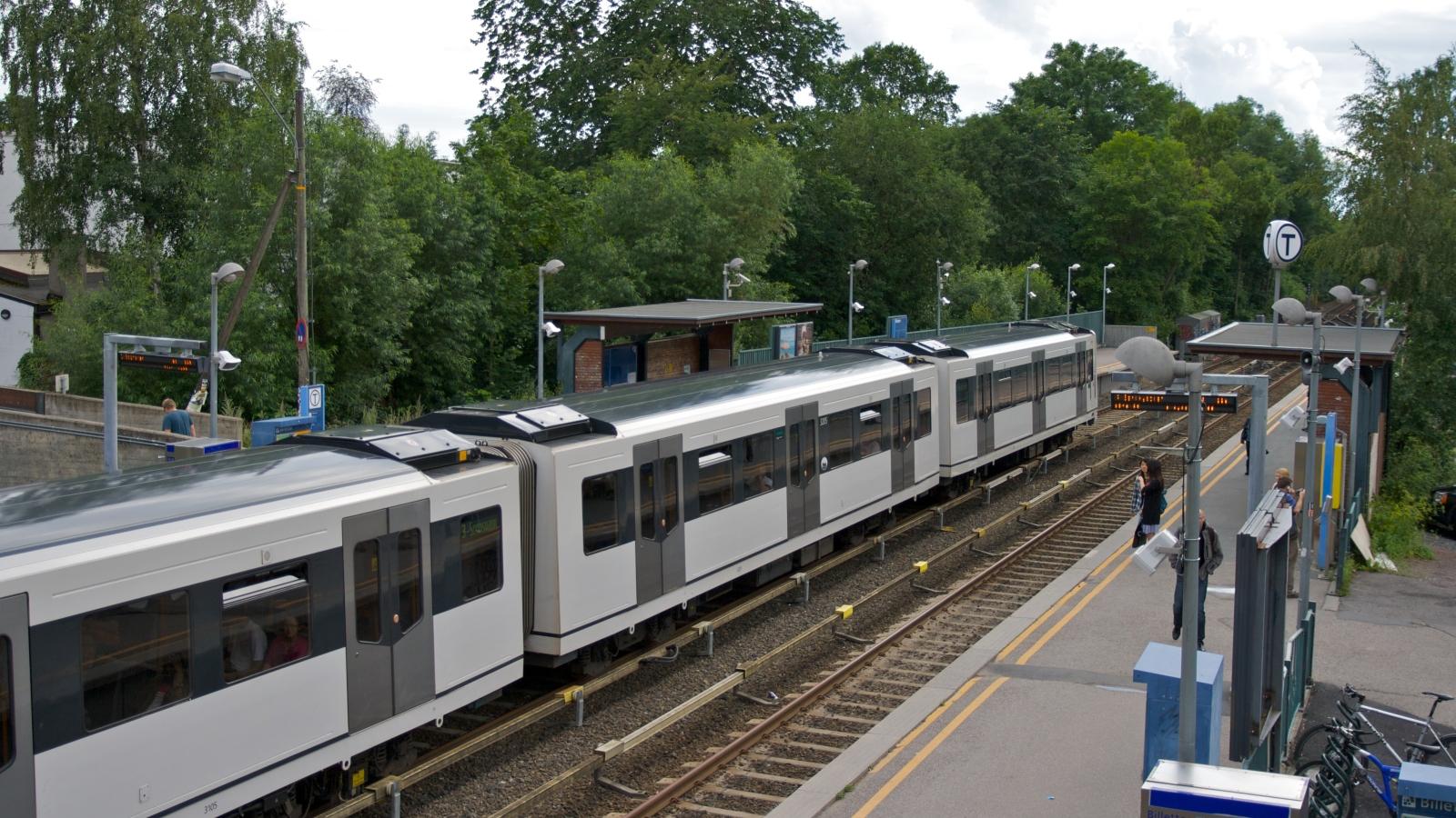 T-banen ved Blindern stasjon.