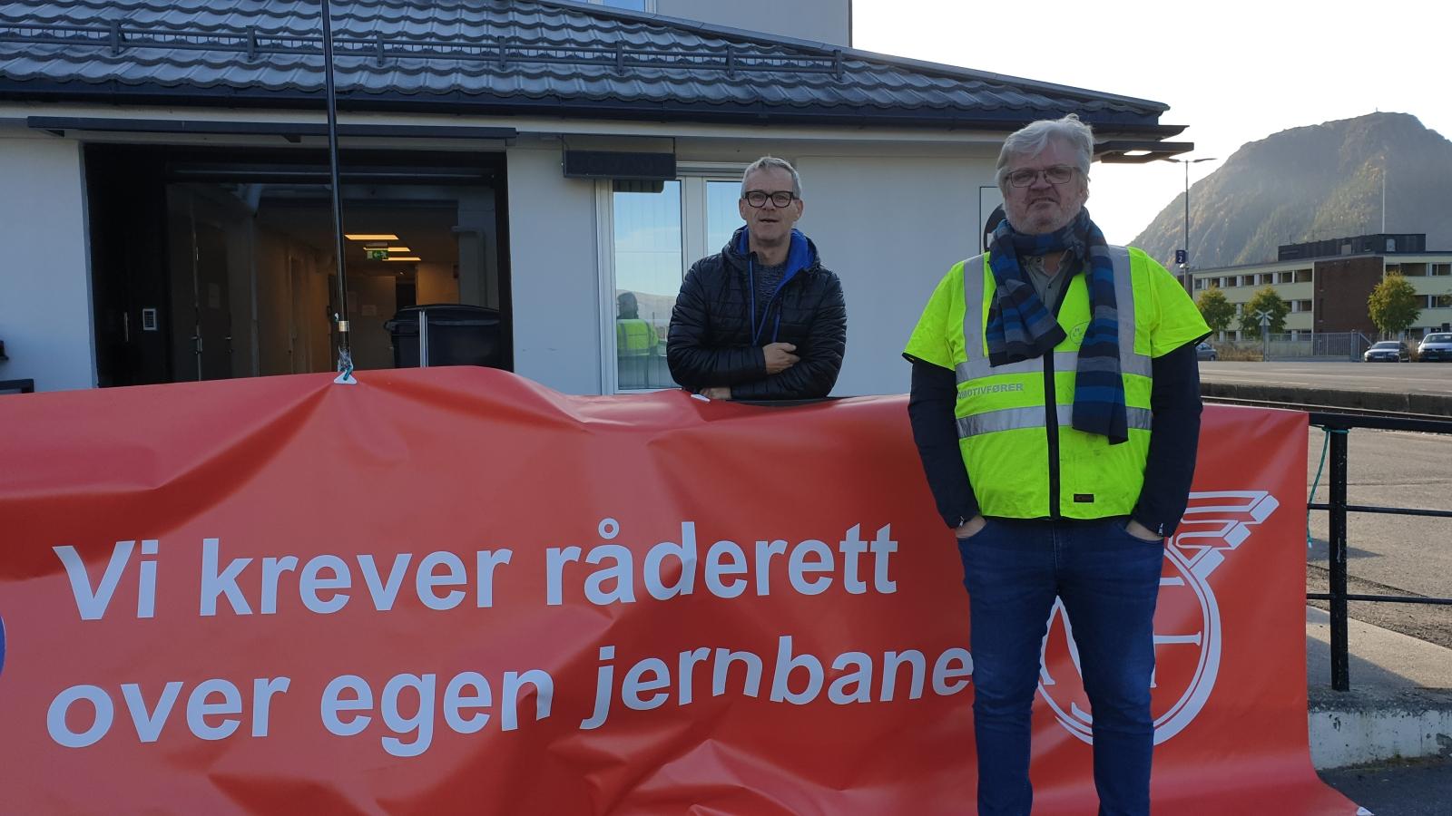 Aksjon mot Jernbanepakke 4 på Nordlandsbanen.