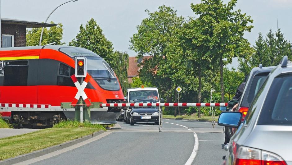 Jernbaneplanovergang.